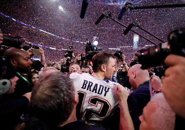 NFL Football - Super Bowl LIII - New England Patriots v Los Angeles Rams - Mercedes-Benz Stadium, Atlanta, Georgia, U.S. - February 3, 2019. New England Patriots' Tom Brady celebrates winning the Super Bowl LIII