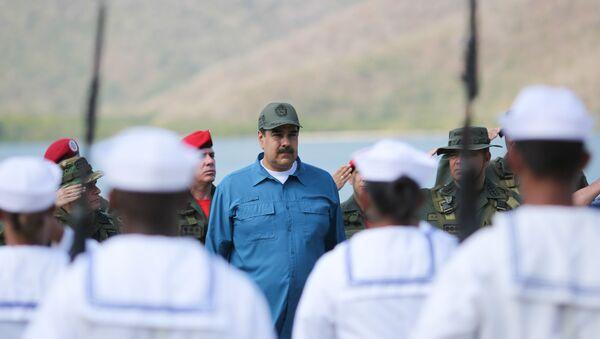 Venezuela's President Nicolas Maduro attends a military exercise in Turiamo, Venezuela February 3, 2019. - Sputnik International