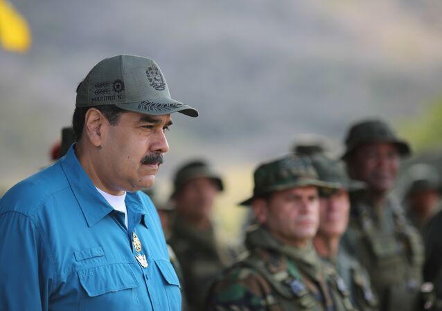 Venezuelan President Nicolas Maduro attends a military exercise in Turiamo, Venezuela, February 3, 2019
