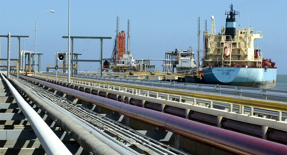 An oil tanker is seen at Jose refinery cargo terminal in Venezuela in this undated file photo