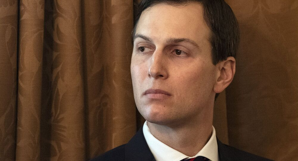 Senior White House adviser, and son-in-law of US President Donald Trump, Jared Kushner attends a Cabinet meeting at the White House in Washington, DC, on 2 January, 2019