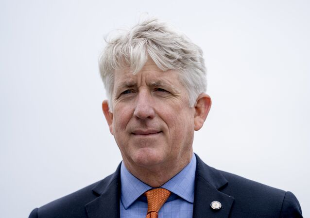 Virginia Attorney General Mark Herring attends a news conference near the White House, Monday, Feb. 26, 2018 in Washington. Eight Democratic Attorneys Generals call for measures to combat gun violence, issues that they have hoped to be able to raise with President Donald Trump. They say they have yet to be included in the conversations with Trump