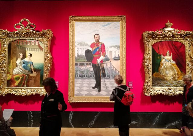 A painting of Tsar Nicholas II is displayed at the 'Russia, Royalty & the Romanovs' Exhibition at The Queen's Gallery in London, UK