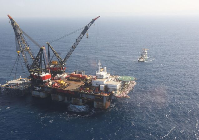 Israeli drilling platform at Leviathan natural gas field