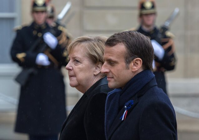 French President Emmanuel Macron and German Chancellor Angela Merkel