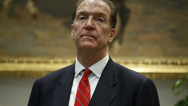 David Malpass, under secretary of the Treasury for international affairs, listens as President Donald Trump announces his nomination to head the World Bank, during an event in the Rosevelt Room of the White House, Wednesday, Feb. 6, 2019, in Washington - Sputnik International