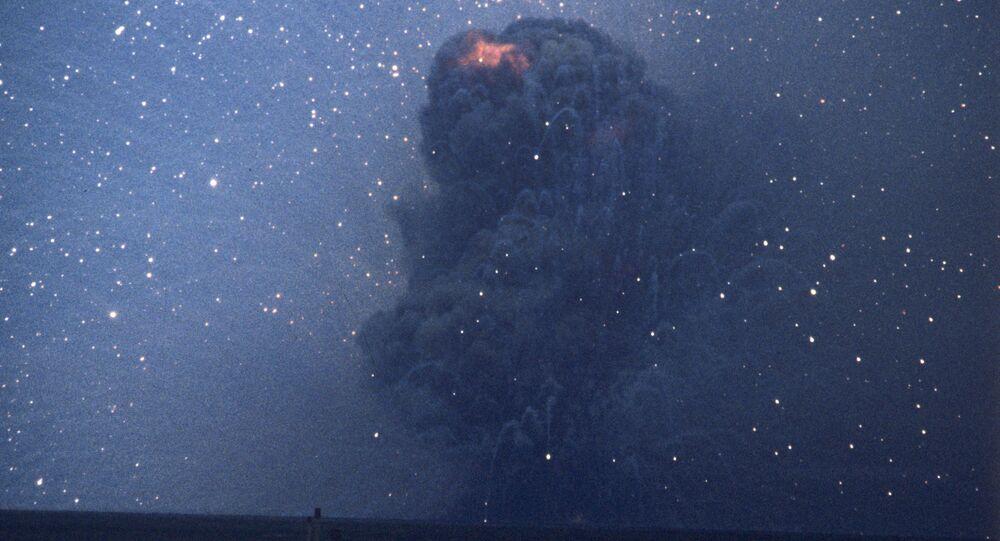 The RSD-10 rocket destroyed at the Kapustin Yar test site