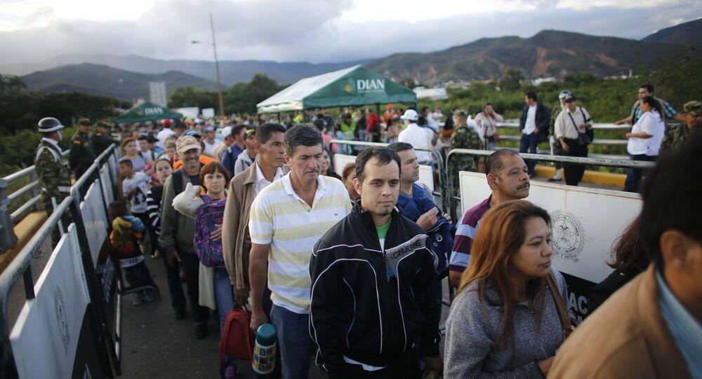 Simon Bolivar Bridge in Venezuela