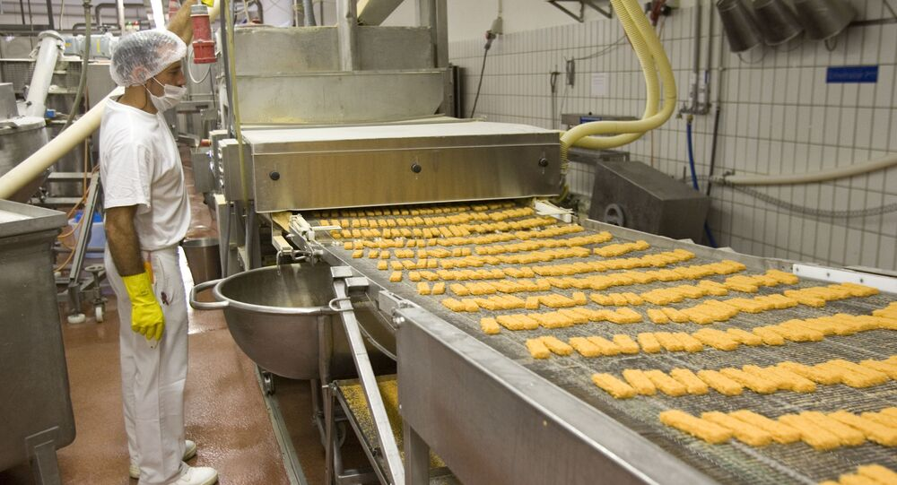Fish stick production. File photo.