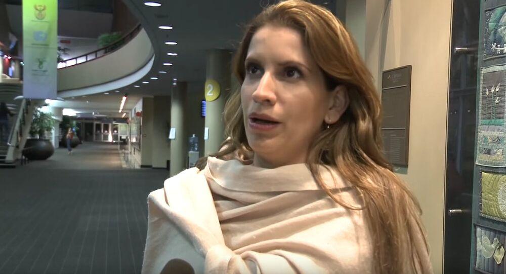 Venezuelan Ambassador to the EU Claudia Salerno Caldera