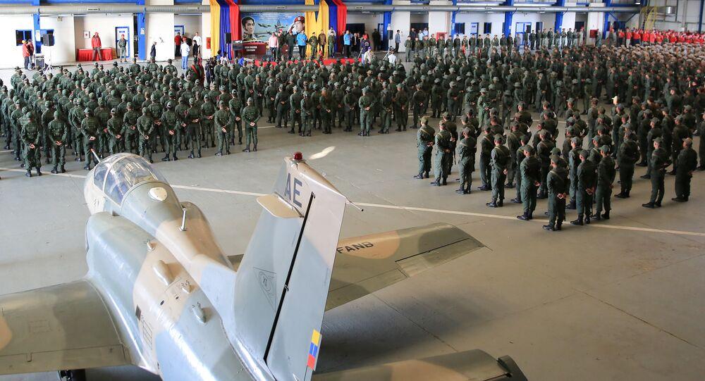Venezuela's President Nicolas Maduro attends a military exercise in Maracaibo, Venezuela February 6, 2019