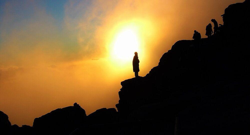 Sunrise from the summit of Mount Sinai