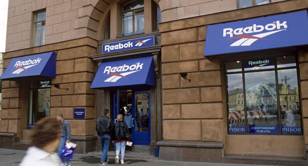 A Reebok store in St. Petersburg, Russia.