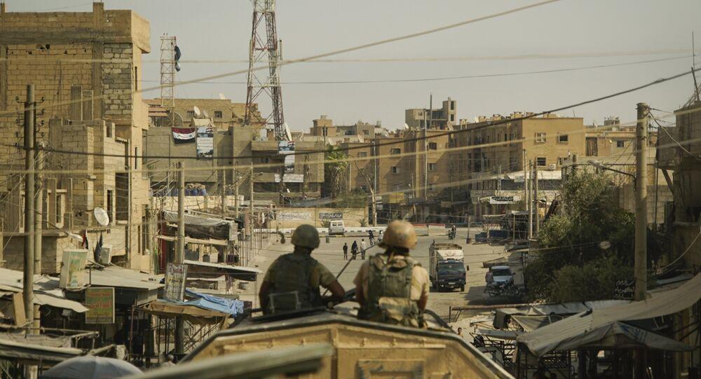 A view of the city of Deir ez-Zor, Syria, Friday, Sept. 15, 2017