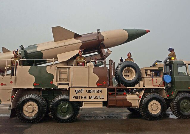 An Indian army vehicle carrying an Prithvi missile takes part in the Army Day parade in New Delhi (File)