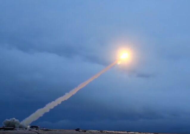 Test of Burevestnik missile.