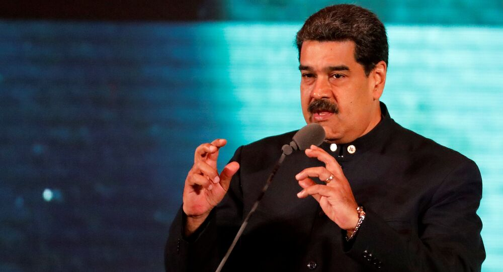 Venezuela's President Nicolas Maduro speaks at a meeting for re-branding the country abroad, in Caracas, Venezuela February 11, 2019