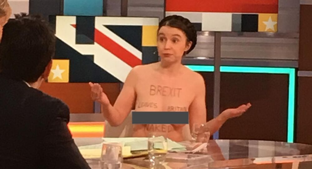 Naked Brexit Protester Shares Her Way of Exposing the Truth About Brexit | Good Morning Britain