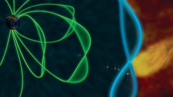 Magnetic field around Earth; artist's rendering. - Sputnik International
