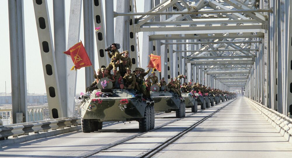 Gradual withdrawal of limited contingent of Soviet forces from the Democratic Republic of Afghanistan (the Islamic Republic of Afghanistan). A column of armored vehicles crosses the Afghan-Soviet border on the Friendship Bridge over the Amu Darya River.