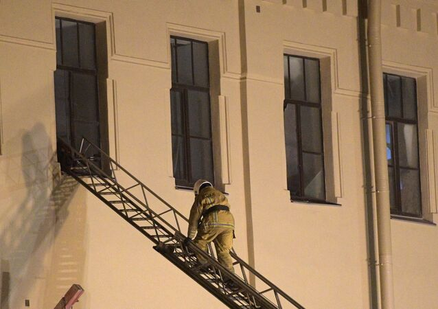 Multiple floors collapsed at ITMO University in Saint Petersburg in Russia