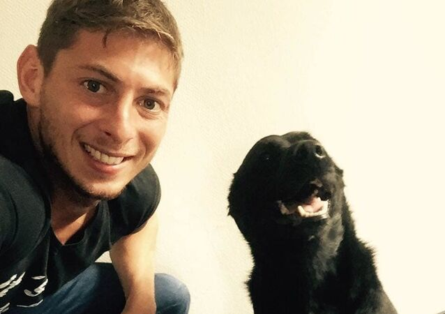 Sala with his dog