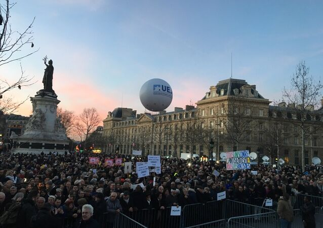 March against semitism, Paris, 19 February 2019.