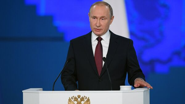 Russian President Vladimir Putin is delivering his annual Presidential Address to Federal Assembly - Sputnik International