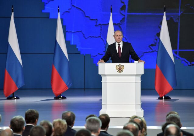 February 20, 2019. President Vladimir Putin presents his annual address to the Federal Assembly