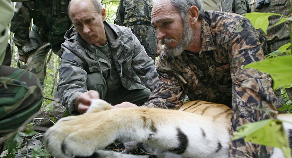 Prime Minister Vladimir Putin during a visit to the Ussurisky nature reserve in the Russian Far East, 2008
