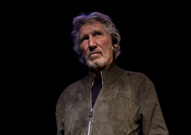 British rock icon and activist Roger Waters attends a conference on the Palestinian situation at Matucana Cultural Center in Santiago. File photo