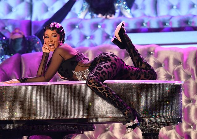 US rapper Cardi B performs onstage during the 61st Annual Grammy Awards on February 10, 2019, in Los Angeles