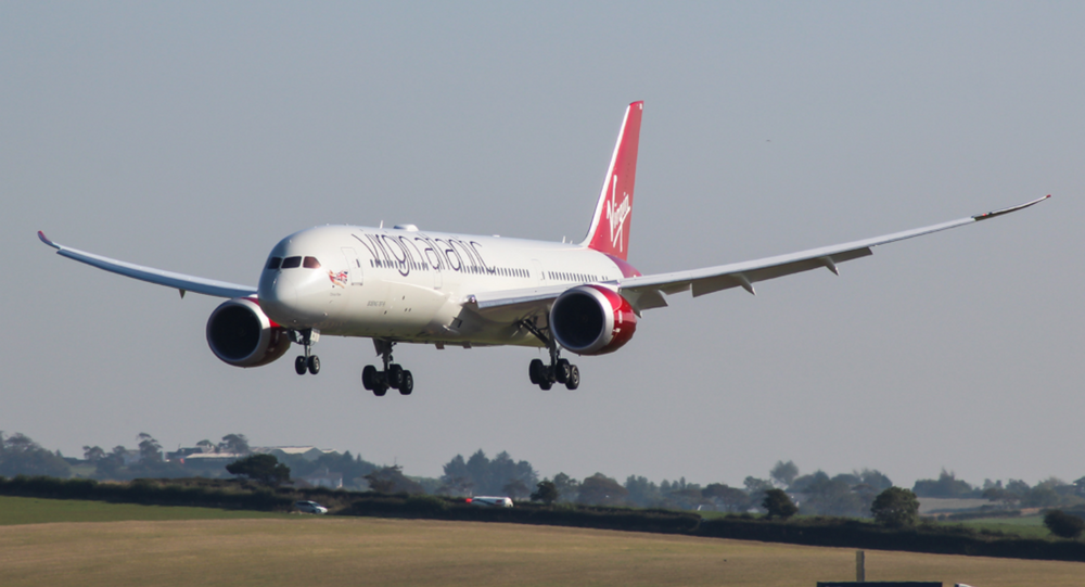 G-VCRU Boeing 787-900 Dreamliner Virgin Atlantic visiting Prestwick for some crew training