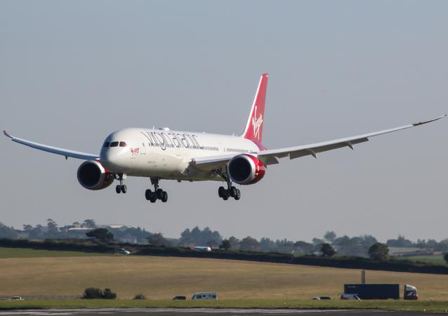 G-VCRU Boeing 787-900 Dreamliner Virgin Atlantic visiting Prestwick for some crew training