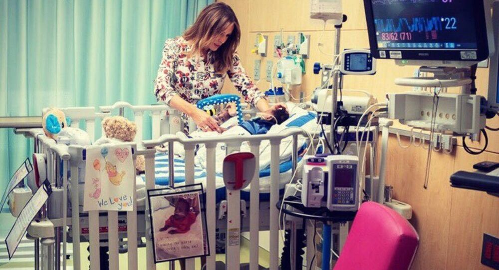 melania Trump visits Nicklaus Children's Hospital in Miami