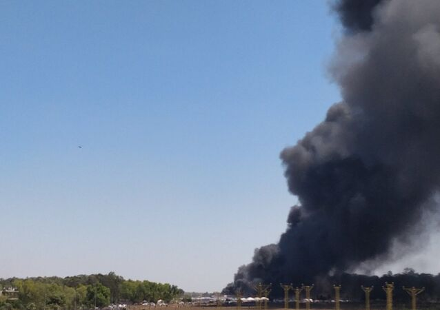 Major fire at 2019 Aero India Show