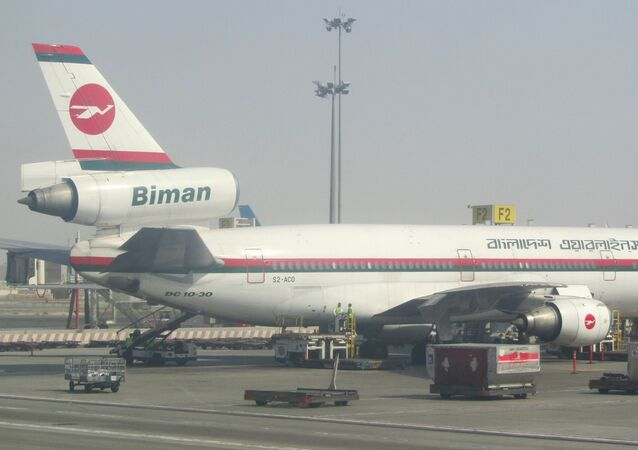 A plane of Biman Bangladesh Airlines in the Shah Amanat International Airport (File photo).