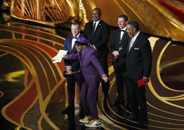 91st Academy Awards - Oscars Show - Hollywood, Los Angeles, California, U.S., February 24, 2019. Charlie Wachtel, David Robinowitz, Kevin Willmott, and Spike Lee accept the Best Adapted Screenplay award for Blackkklansman