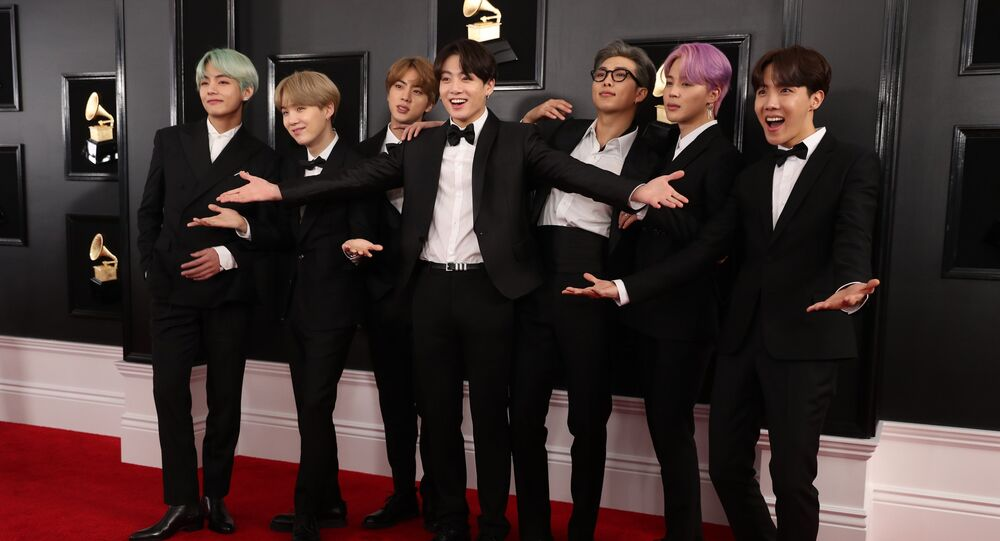 61st Grammy Awards - Arrivals - Los Angeles, California, U.S., February 10, 2019 - BTS