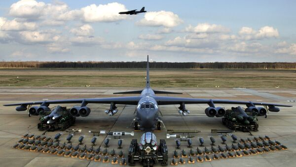 Munitions on display show the full capabilities of the B-52 Stratofortress. - Sputnik International