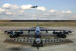 Munitions on display show the full capabilities of the B-52 Stratofortress.