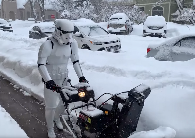 Darth Landscapers? Stormtrooper Spotted in Quite Uncommon Career Change