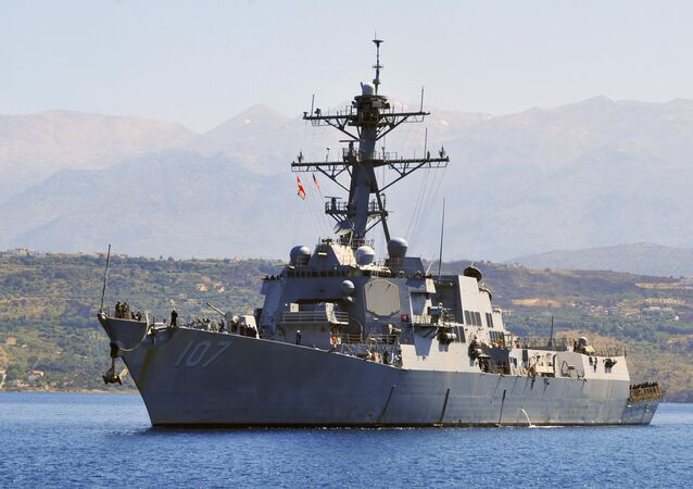 The guided-missile destroyer USS Gravely (DDG 107) arriving (File)