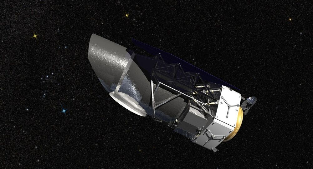 WFIRST, the Wide Field Infrared Survey Telescope, is shown here in an artist's rendering. It will carry a Wide Field Instrument to provide astronomers with Hubble-quality images covering large swaths of the sky, and enabling several studies of cosmic evolution. Its Coronagraph Instrument will directly image exoplanets similar to those in our own solar system and make detailed measurements of the chemical makeup of their atmospheres.
