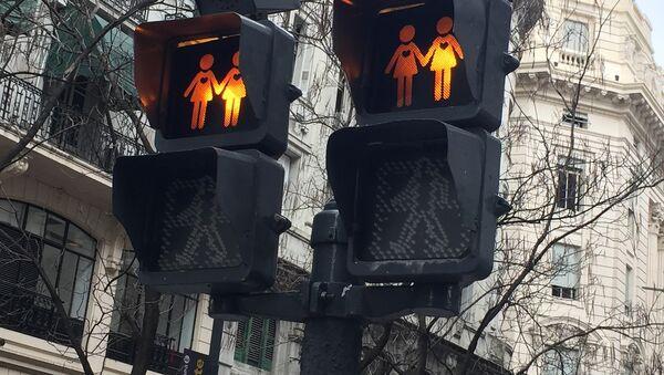 Traffic lights showing female same-sex couples - Sputnik International