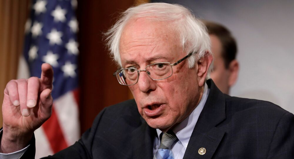 U.S. Senator Bernie Sanders speaks during a news conference on Yemen resolution on Capitol Hill in Washington, U.S., January 30, 2019
