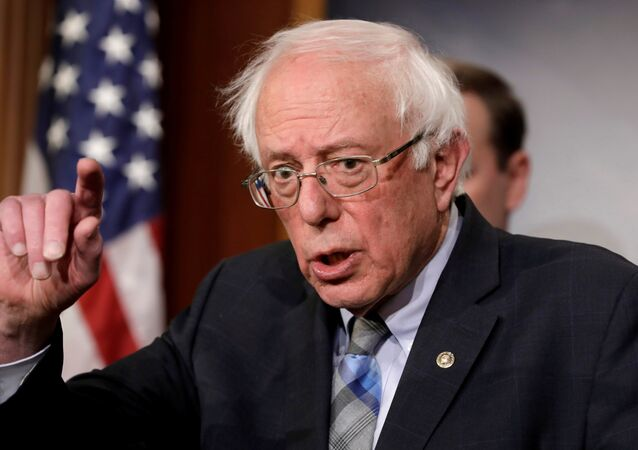 U.S. Senator Bernie Sanders speaks during a news conference on Yemen resolution on Capitol Hill in Washington, U.S., January 30, 2019