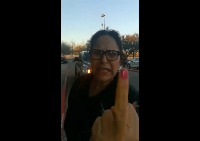 US woman launches an expletive-laced verbal attack against a Kroger shopper in Houston, Texas.