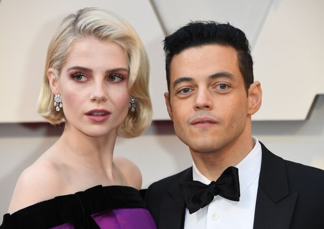 Best Actor nominee for Bohemian Rhapsody Rami Malek and actress Lucy Boynton arrives for the 91st Annual Academy Awards at the Dolby Theatre in Hollywood, California on February 24, 2019.