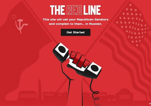 A Red Line website page